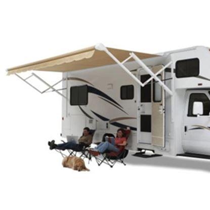 Picture of Carefree Eclipse/Travel'r/Pioneer Burgundy Vinyl 20'L X 8'Ext Adj Pitch Springless Patio Awning QJ206A00 00-0782