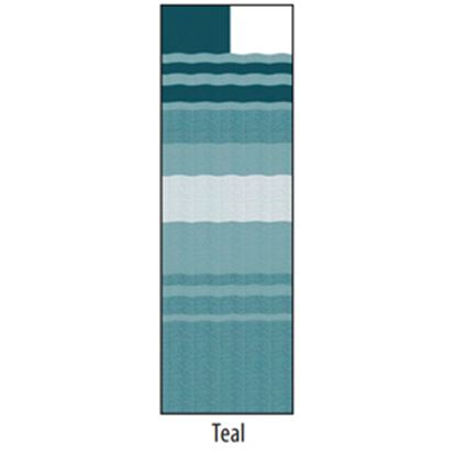 """Picture of Carefree  14' 2"""" Teal Dune Stripe w/ W WG Vinyl Patio Awning Fabric JU158C00 00-1648"""