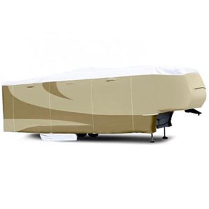 """Picture of ADCO Tyvek (R) Plus Gray Polypropylene Cover For 25' 7""""-28' 5th Wheel Trailers 34853 01-0140"""