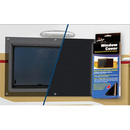 Picture of Carefree Window Cover See Through Black Vinyl Window Cover 902002BLK 01-0306