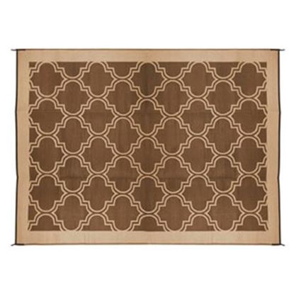 Picture of Camco  6' x 9'  Brown/ Tan Camping Mat 42877 01-0747
