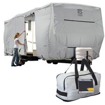 Picture of Classic Accessories PermaPRO (TM) Polyester Water Resistant RV Cover For 15-18' Travel Trailers 80-321-301001-RT 01-0823