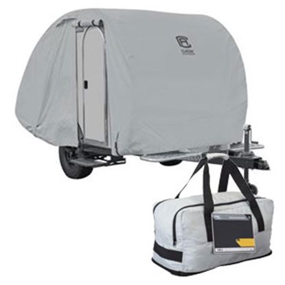 """Picture of Classic Accessories PermaPro RV Cover For 12'1""""-14' Teardrop Trailer 80-398-151001-RT 01-0897"""
