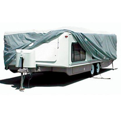"Picture of ADCO Tyvek (R) 315"" L x 104"" W x 60"" H Cover For 22' 7""-26' Hi-Lo Style Trailers 22853 01-1216"