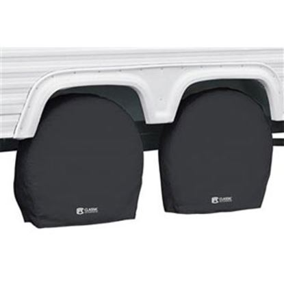 """Picture of Classic Accessories  1-Pack Black 26-3/4"""" to 29"""" Diam Single Tire Cover 80-237-150401-00 01-7309"""