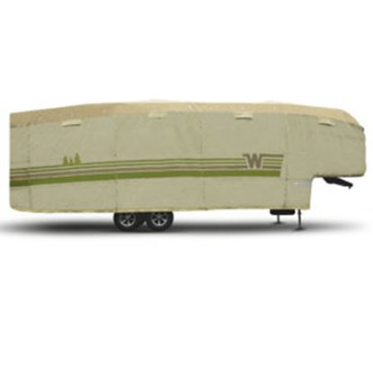 """Picture of ADCO Winnebago (TM) Tan Polypropylene Cover For 5th Wheel 34' 1""""-37' Trailers 64856 01-8661"""