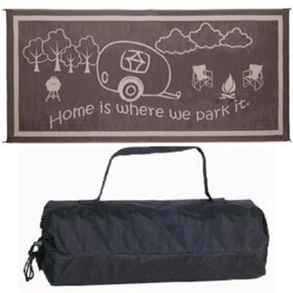 Picture of Ming's Mark  8' x 11' Black/White Reversible Camping Mat RH8111 01-8676
