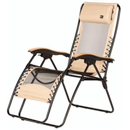Picture of Faulkner  Beach Sand Mesh Wooden Ar Recliner 48960 03-0404