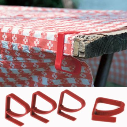 Picture of Camco  4-Pack Red Plastic Tablecloth Clamp 44003 03-0569