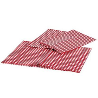 """Picture of Camco  54"""" x 84"""" Red & White Checkered Rectangular Vinyl Tablecloth 51021 03-0713"""