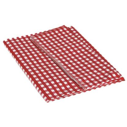 """Picture of Camco  52"""" x 84"""" Red & White Checkered Rectangular Vinyl Tablecloth 51019 03-0742"""