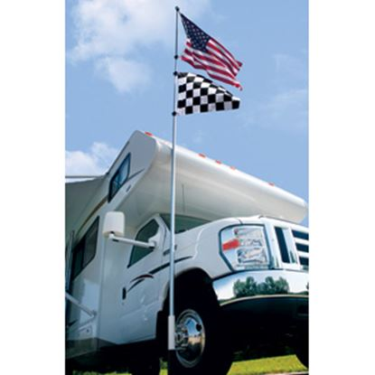 Picture of Camco  16' Fiberglass Telescopic Flag Pole Kit 51606 03-1394