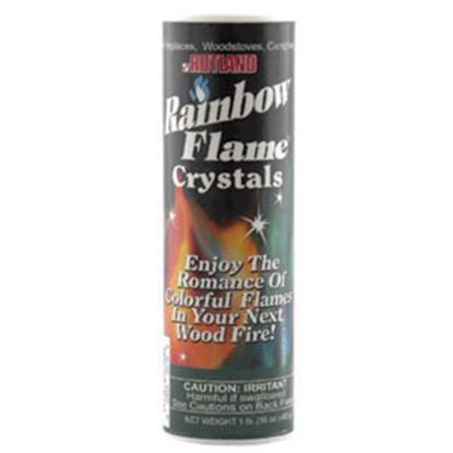 Picture of Rutland Products Rainbow Flame (R) 1 lb Canister Crystal Type Blue And Green Flame Campfire Colorant 715 03-2121