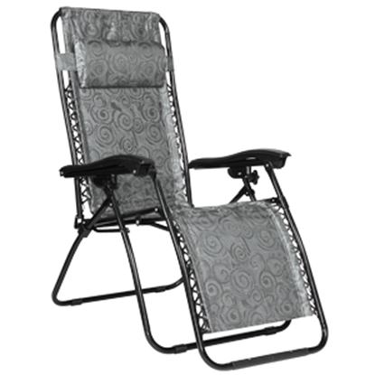 Picture of Camco  Black Swirl Large Zero Gravity Folding Chair 51830 03-3615
