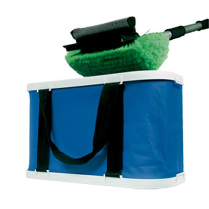 Picture of Camco  Blue 3 Gallon Collapsible Wash Bucket 42973 03-4004