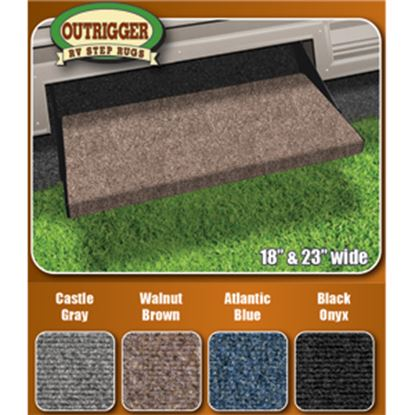 """Picture of Prest-o-Fit Outrigger (R) Black 18"""" Entry Step Rug 2-0314 04-0304"""