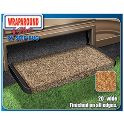 """Picture of Prest-o-Fit Wraparound (R) Plus Burgundy 20"""" Entry Step Rug 2-1074 04-0329"""