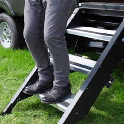 "Picture of MOR/ryde StepAbove (TM) 30"" W x 30""-34"" H Triple Manual Entry Step STP-3-30-03H 04-0342"