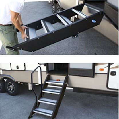 "Picture of MOR/ryde StepAbove (TM) 32"" W x 39""-42"" H Quad Manual Entry Step STP-4-32-04H 04-0363"