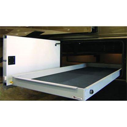 """Picture of MOR/ryde MOR/stor 800 lb Powder Coat 20"""" W x 48"""" D Cargo Slide w/Flooring CTG60-2048W 05-0471"""