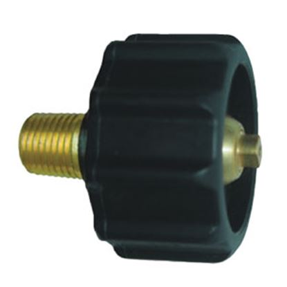 "Picture of JR Products  1-5/16"" Female ACME Quick Connect x 1/4"" MPT LP Hose Connector 07-30265 06-0076"
