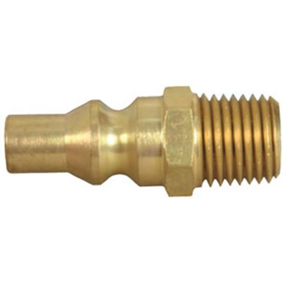 "Picture of JR Products  1/4"" Male Pipe Thread x Male Quick Connect LP Hose Connector 07-30445 06-0115"