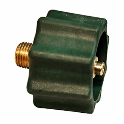 """Picture of Marshall Excelsior  1-5/16""""Female ACME x 1/4""""MNPT LP Hose Connector w/ Shut Off ME518 06-0233"""
