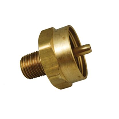 "Picture of Marshall Excelsior  1""-20 FNPT Inlet x 1/4"" MNPT Outlet Brass LP Adapter Fitting ME488 06-0427"