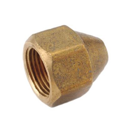 "Picture of Anderson Metal LF 7441S Series 3/4""-16 Brass Fresh Water Lead Free Short Fitting Nut 704014-08 06-1211"