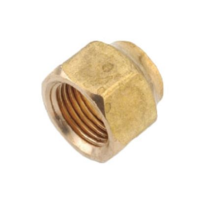 "Picture of Anderson Metal LF 7110 Series 3/8"" MPT x 1/4"" FPT Brass Fresh Water Straight Fitting 706110-0604 06-1314"