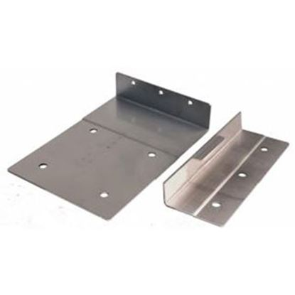 Picture of JR Products  Stainless Steel Clothes Washer Bracket w/ Mounting Screws 06-11855 07-0032