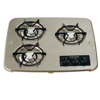 Picture of Suburban  Black 3-Burner Match Light Drop-In Cooktop 2938ABK 07-0333