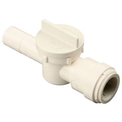 """Picture of Sea Tech 35 Series 1/2"""" CTS Male Stem x 1/2"""" Female Quick CTS Polysulfone Straight Stop Valve 013543-10 10-0307"""