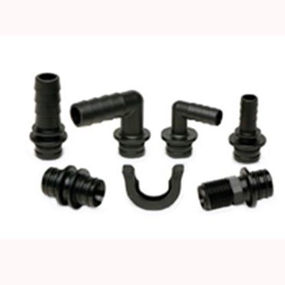 """Picture of SHURflo  1/2"""" Barb x QC Fresh Water Hose Straight End Fitting 94-615-06 10-0688"""