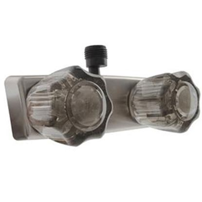 "Picture of Dura Faucet  4"" Nickel Plated Plastic Shower Valve w/Smoke Knobs DF-SA100S-SN 10-0823"