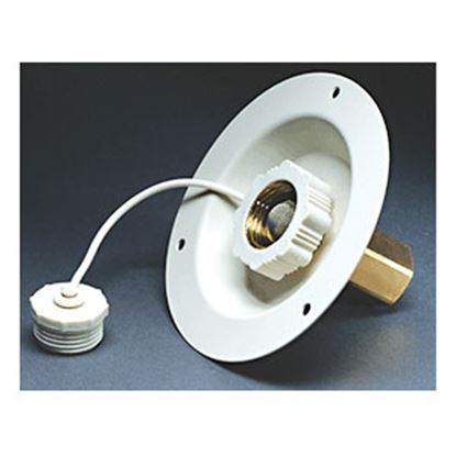 Picture of Aqua Pro  Colonial White Recessed Mount Flange Fresh Water Inlet 27882 10-0986