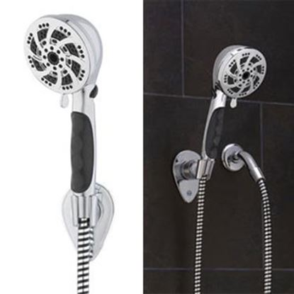 "Picture of Oxygenics Fury (TM) 3-3/4"" Chrome Handheld Shower Head w/5 Spray Settings & 72"" Hose 92181 10-1154"