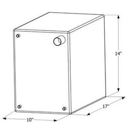 """Picture of ICON  17"""" x 14"""" x 10"""" 10 Gal Fresh Water Tank w/ Fittings 12464 10-1610"""