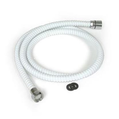 "Picture of Camco  60""L White Shower Head Hose w/Connectors 43717 10-1665"