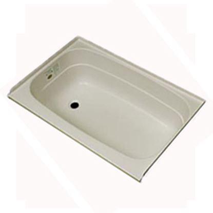 "Picture of Specialty Recreation  Parchment 24""x36"" LH Drain ABS Bathtub BT2436PL 10-1856"
