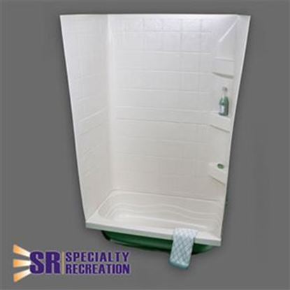 """Picture of Specialty Recreation  White 24""""W x 32""""L x 59""""H Shower Surround TW2432W 10-1922"""