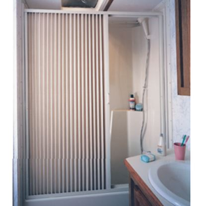 """Picture of Irvine  36"""" x 67"""" Ivory PVC Shower Door 3667SI 10-2072"""