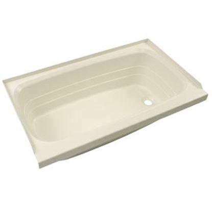 """Picture of Better Bath  Parchment 24""""x36"""" RH Drain ABS Standard Bathtub 209376 10-5732"""