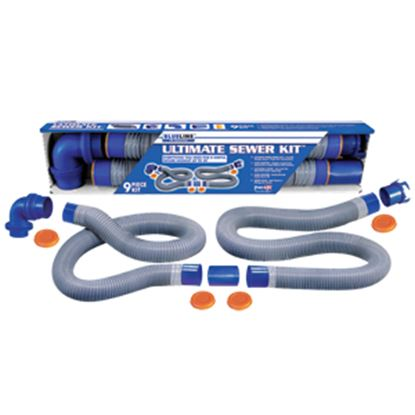 Picture of Prest-o-Fit Blue Line (R) Ultimate Blue 10' Vinyl Sewer Hose 1-0203 11-0213