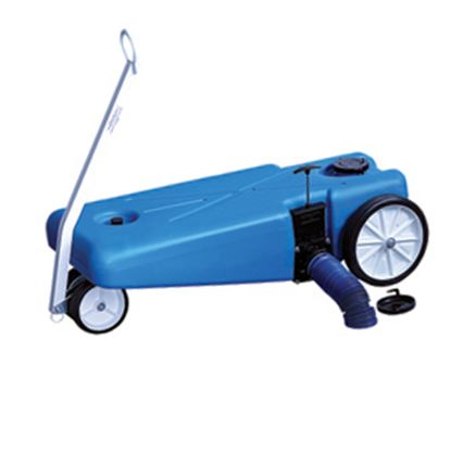Picture of Barker Tote-Along 16 Gal 4-Wheel Portable Waste Holding Tank w/ Tow Handle 28191 11-0707