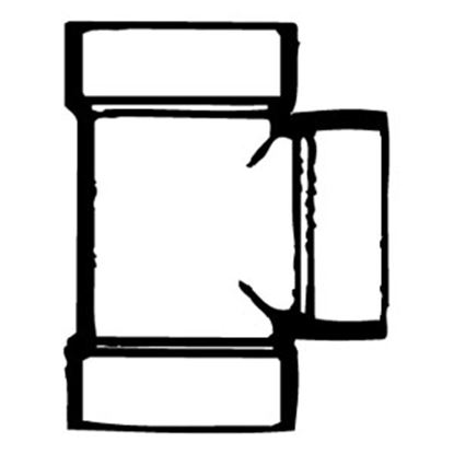 "Picture of Lasalle Bristol  1-1/2"" Slip ABS Plastic Vent Tee Waste Valve Fitting w/ Flange 632101 11-1051"