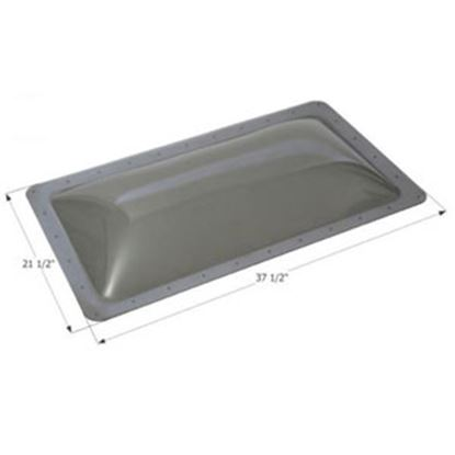 """Picture of Icon  4""""H Bubble Dome Rectangle Clear PC Skylight w/37.5"""" X 21.5""""Flange 12214 13-1744"""