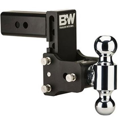 """Picture of B&W Hitches Tow & Stow (TM) Class V 2-1/2"""" 14.5K 5.2"""" Drop x 5.7"""" Lift Double Ball Mount TS20037B 14-1721"""