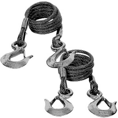 Picture of Blue Ox  2-Set 7' 10,000 Lbs Steel Snap Hook Trailer Safety Cable BX88197 14-5236