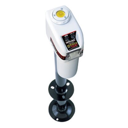 Picture of Barker Super Hi-Power White 3500 Lb A-Frame Electric Tongue Trailer Jack 27452 15-0161